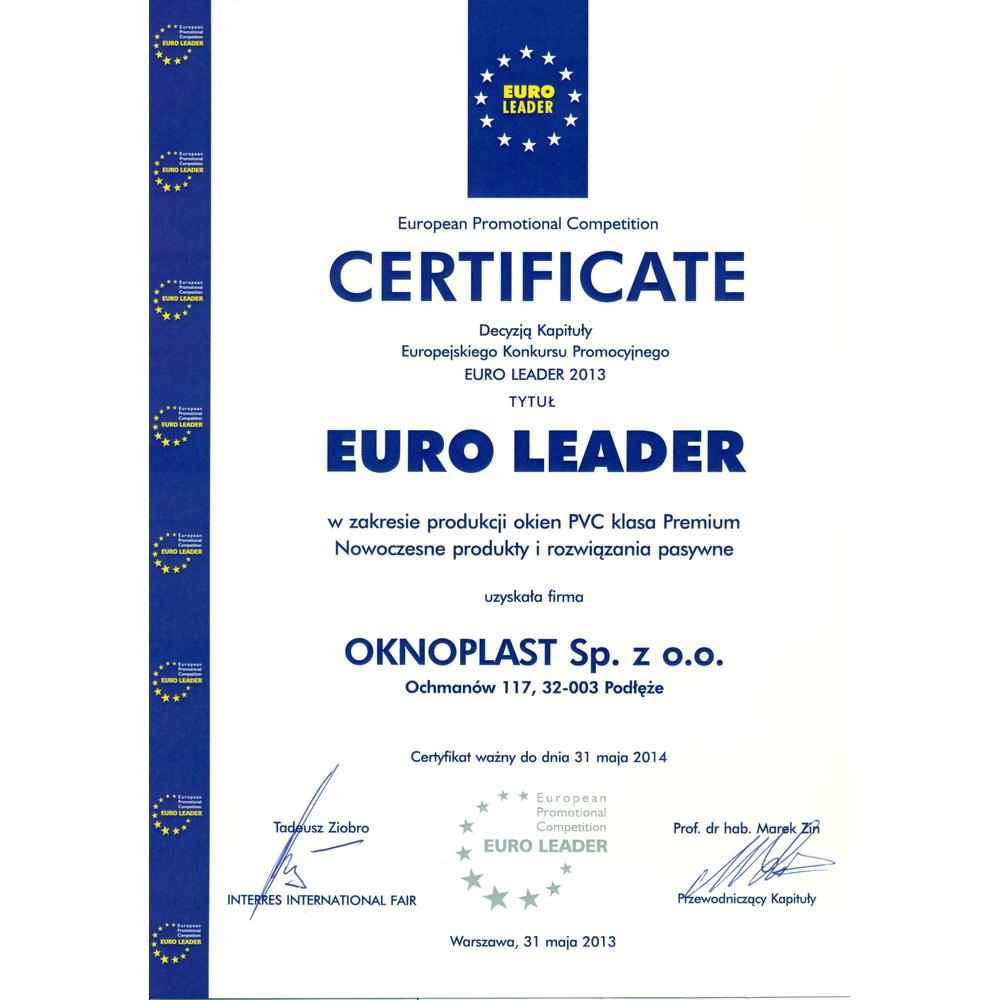 Euro Leader 2014 for vinduet Winergetic Premium Passive