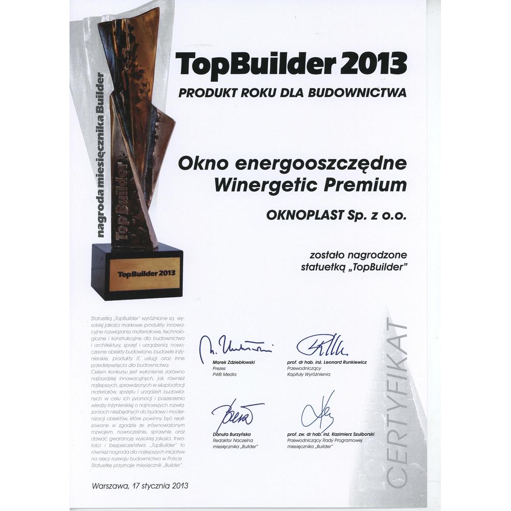 Top Builder 2013 for vinduet Winergetic Premium