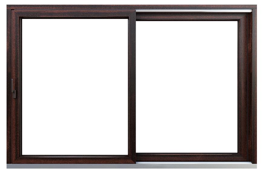 okno HST Premium Mahoń